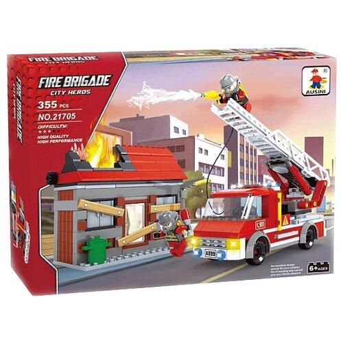 Конструктор Ausini Пожарная бригада 21705 набор пазлов пожарная бригада 2 х 24 детали