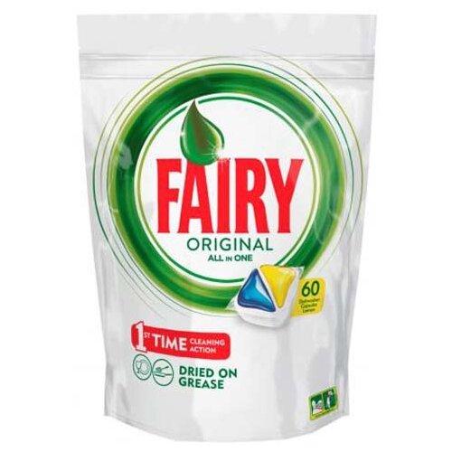 Fairy Original All in 1 капсулы (лимон) для посудомоечной машины 60 шт.Для посудомоечных машин<br>