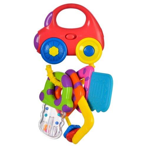 Купить Прорезыватель-погремушка Жирафики Машинка с ключиками красный/желтый/голубой, Погремушки и прорезыватели