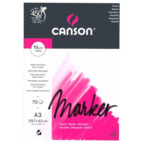 Купить Альбом для маркеров Canson Marker Layout 42 х 29.7 см (A3), 70 г/м², 70 л., Альбомы для рисования