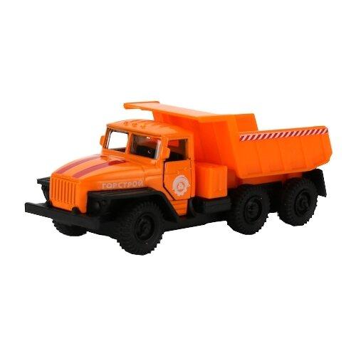 Фото - Грузовик ТЕХНОПАРК Урал 5557 (SB-16-52-A-WB) 12 см оранжевый технопарк машинка технопарк урал 5557 полиция 12 см