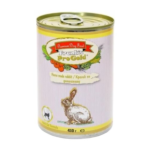 Корм для кошек Frank's Pro Gold (0.41 кг) 1 шт. Консервы для кошек Кролик по-домашнему 410 г