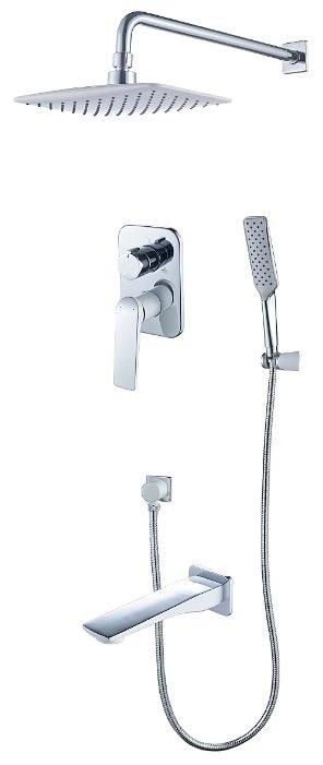 Верхний душ встраиваемый Lemark Allegro LM5922CW хром