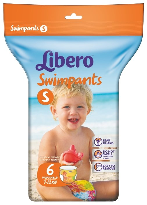 Libero трусики Swimpants S (7-12 кг) 6 шт.