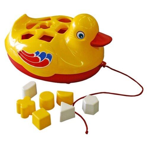 Каталка-игрушка ЛЕНА Утёнок (65620) игрушка лена самосвал для мусора 08831