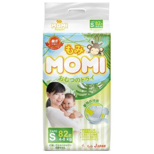 Купить Momi подгузники S (4-8 кг), 82 шт., Подгузники