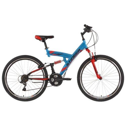 Горный (MTB) велосипед Stinger Banzai 26 (2018) синий 16 (требует финальной сборки) велосипед stinger cruiser l 26 рама 16 5 синий 1 скорость