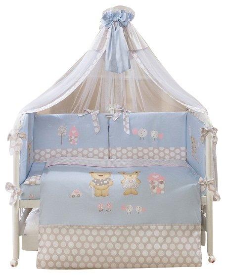 Комплект в кроватку Perina Венеция Лапушки 7 предметов, беж