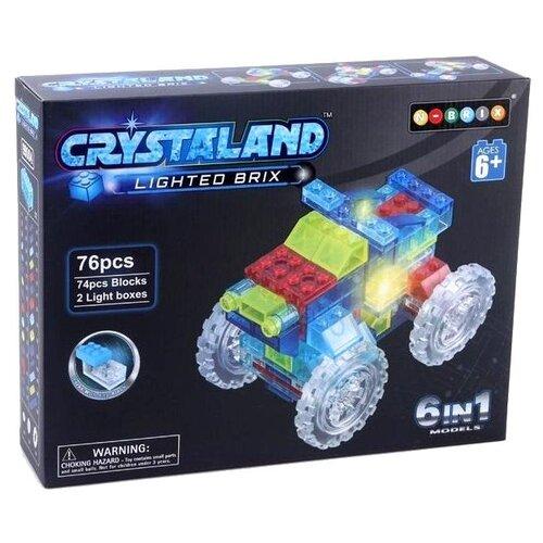 Купить Конструктор Crystaland Lighted Brix 99004 Кроссовер 6 в 1, Конструкторы