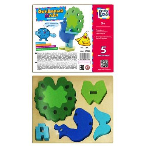 Купить 3D-пазл Kribly Boo Зверята Павлин (67928), элементов: 5 шт., Пазлы