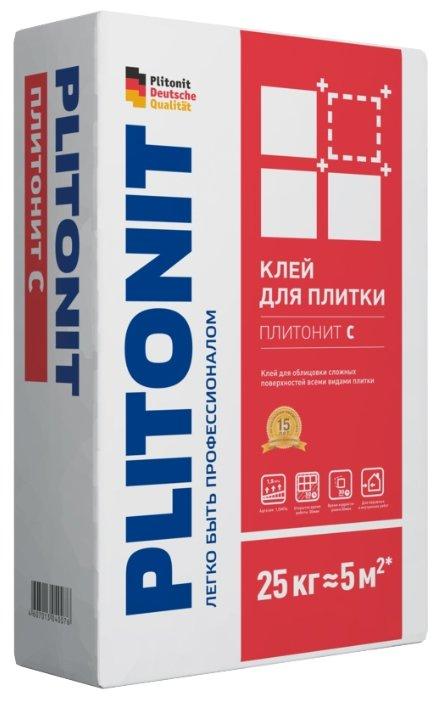 Клей для плитки и камня Plitonit С 25 кг — купить по выгодной цене на Яндекс.Маркете