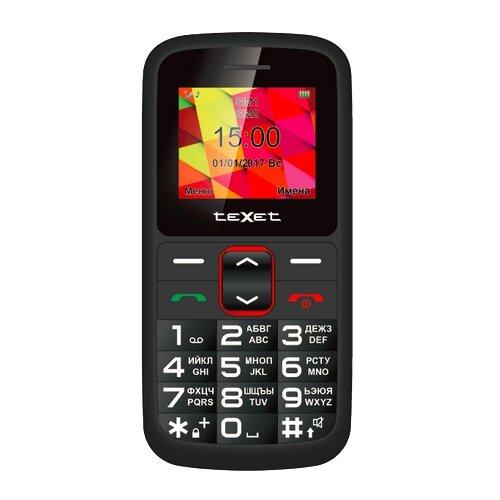 Телефон teXet TM-B217 черный