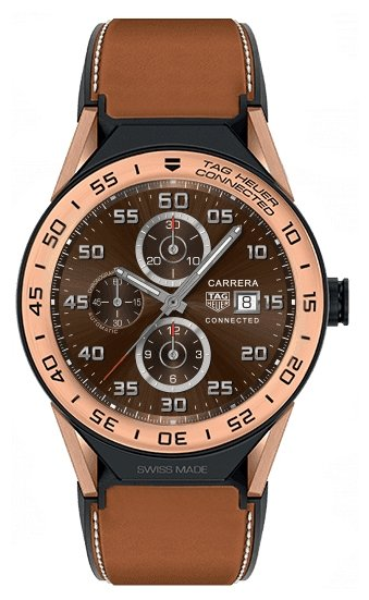 Часы TAG Heuer Connected Modular 45 (кожа, золото)