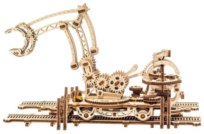 Сборная модель UGEARS Манипулятор на рельсах,,