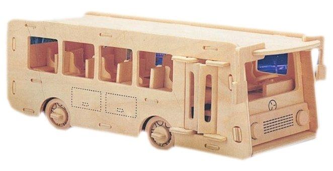 Сборная модель Мир деревянных игрушек Автобус (П092)