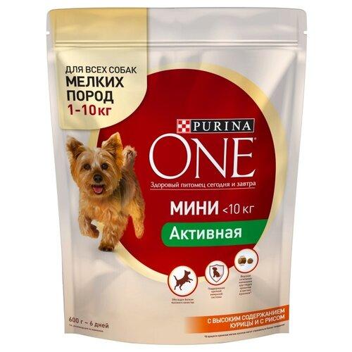 Корм для собак Purina ONE (0.6 кг) МИНИ Активная Курица с рисомКорма для собак<br>