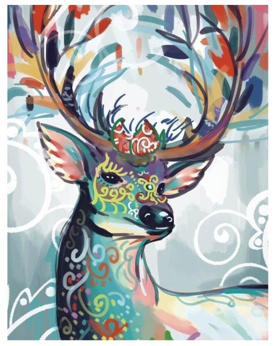 Цветной Набор алмазной вышивки Разноцветная лань (LGP012) 40х50 см