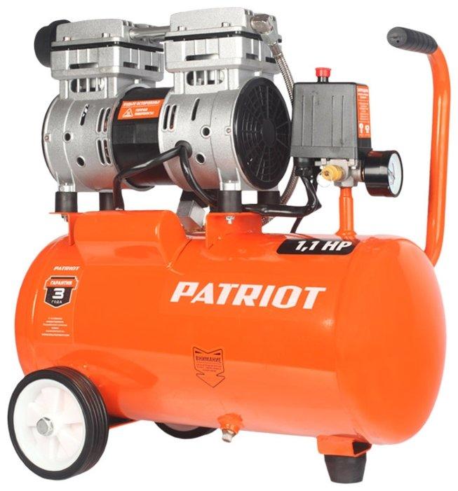 Компрессор безмасляный PATRIOT WO 24-160, 24 л, 1.1 кВт