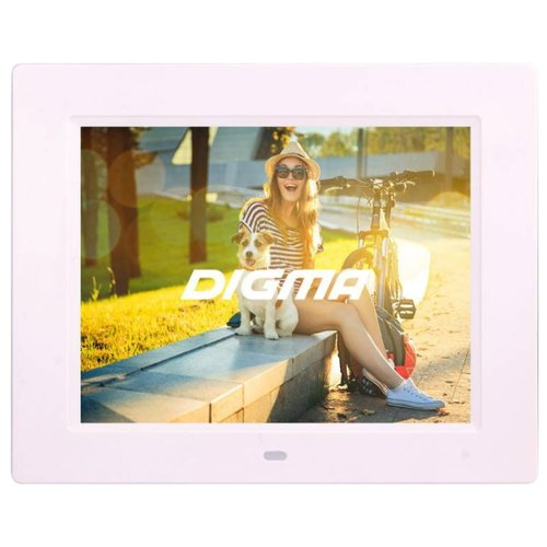 Фото - Фоторамка DIGMA PF-833 белый мини кинотеатр digma dimagic kids plus battery [dm003]