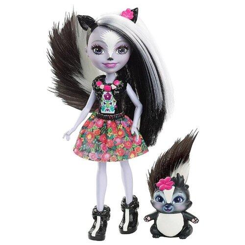 Купить Кукла Enchantimals Седж Скунси с любимой зверюшкой, 15 см, DYC75, Куклы и пупсы