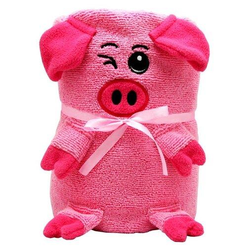Склад уникальных товаров Полотенце-игрушка Свинка банное 130х180 см розовый