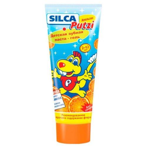 Зубная паста SILCA Putzi Апельсин 2-12 лет, 75 мл детская зубная паста silca putzi кальций 50 мл