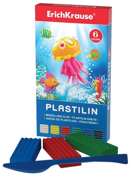 Пластилин ErichKrause Классический 6 цветов/108 г (30648)