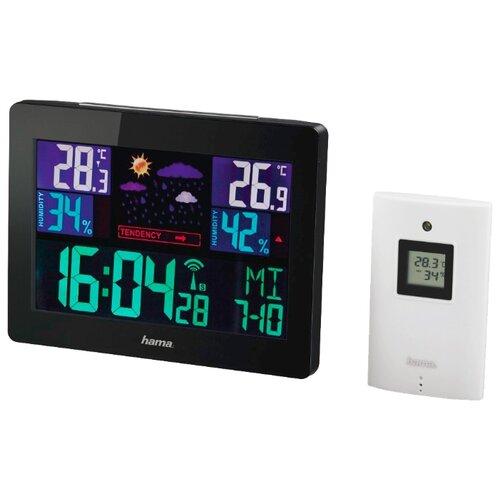 Метеостанция HAMA EWS-1400 черный термометр hama ews 180