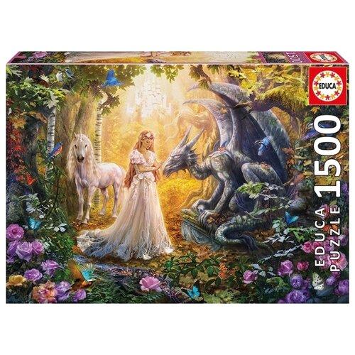 Купить Пазл Educa Дракон, принцесса и единорог (17696), 1500 дет., Пазлы