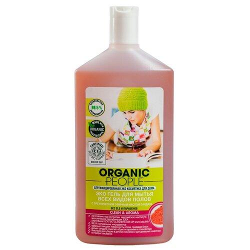 Organic People Гель для мытья всех видов полов 0.5 лДля мебели, ковров и напольных покрытий<br>