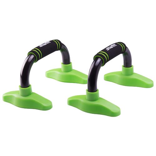 Упоры дуговые Starfit BA-302 черный/зеленый упоры для отжимания starfit ba 304 black orange ут 00016658