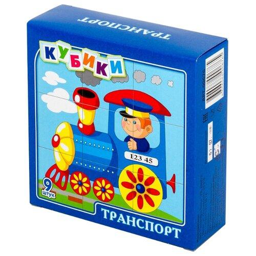 Кубики-пазлы Десятое королевство Транспорт 00676 десятое королевство 01057 пазлы макси кот в сапогах
