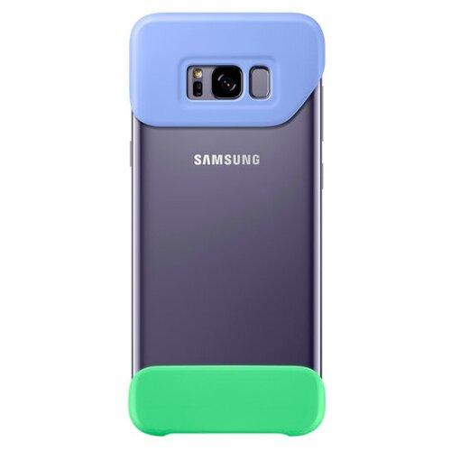 Чехол Samsung EF-MG955 для Samsung Galaxy S8+ фиолетовый/зеленыйЧехлы<br>