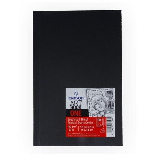 Скетчбук Canson One Art Book 21.6 х 14 см, 100 г/м², 100 л.