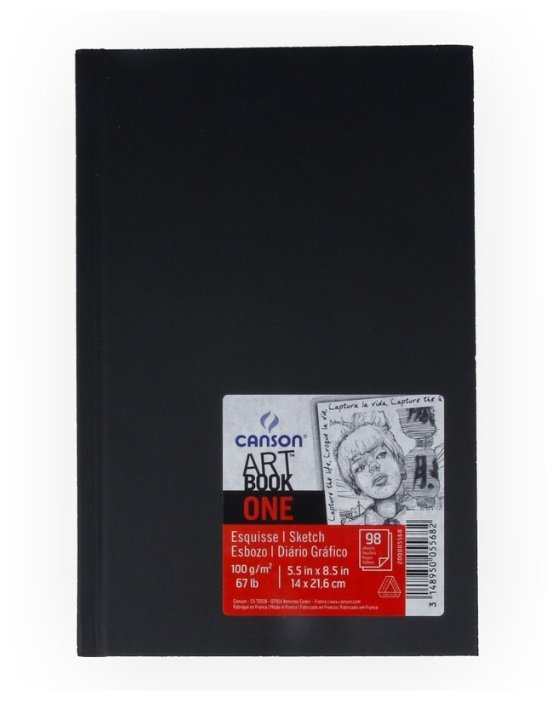 Скетчбук Canson One Art Book 21.6 х 14 см, 100 г/м², 100 л.