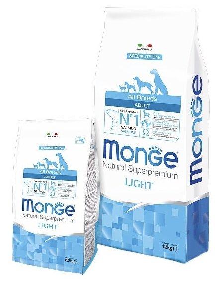 Корм для собак Monge Speciality Line Light – Лосось и рис
