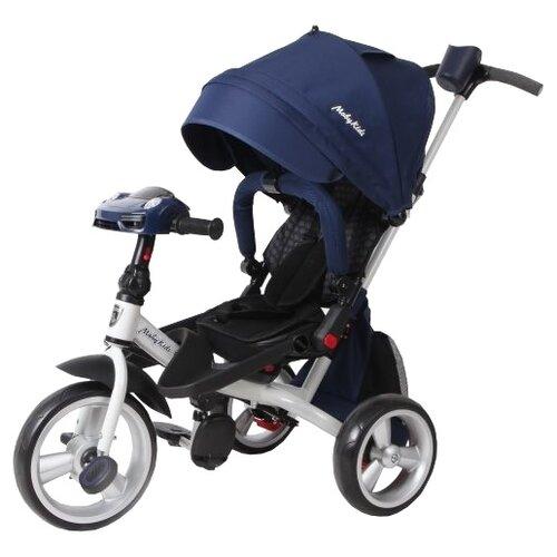 Купить Трехколесный велосипед Moby Kids Leader 360° 12x10 EVA Car синий, Трехколесные велосипеды