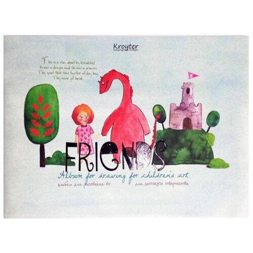 Альбом для рисования Кройтер Друзья 29.7 х 21 см (A4), 100 г/м?, 24 л.Альбомы для рисования<br>