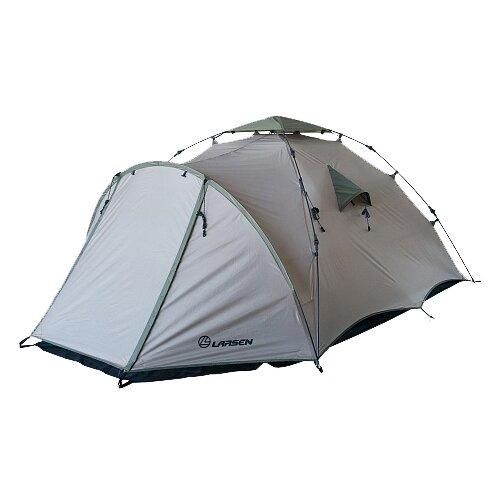 Палатка Larsen Flash бежевый/зеленый палатка 3 м larsen nevada plus