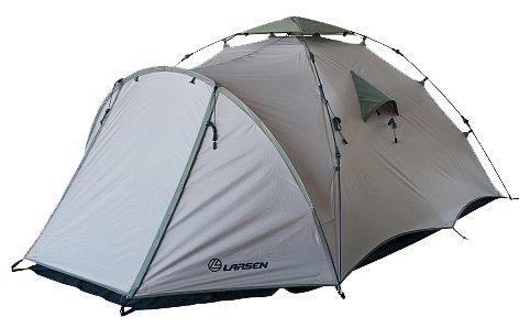 Палатка Larsen Flash бежевый/зеленый