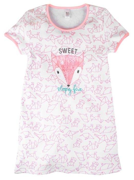 Сорочка Bossa Nova размер 32, белый (розовое оригами)