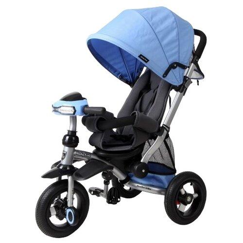 Трехколесный велосипед Moby Kids Stroller trike 10x10 AIR Car синий велосипед трехколесный funny scoo volt air ms 0576 фиолетовый