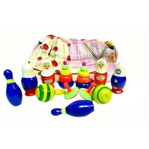 Купить Развивающая игрушка RNToys Расписные игрушки разноцветный, Развитие мелкой моторики