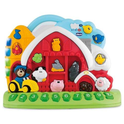 Интерактивная развивающая игрушка Chicco Говорящая ферма рус/англ белый/красный/зеленыйРазвивающие игрушки<br>
