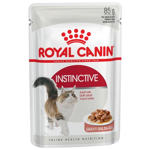 Корм для кошек Royal Canin Instinctive для профилактики МКБ 85 г (кусочки в соусе) консервы для котят аппетитные кусочки в желе royal canin kitten instinctive 85 г