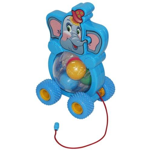 Купить Каталка-игрушка Cavallino Бимбосфера Слонёнок (54432) со звуковыми эффектами, Каталки и качалки