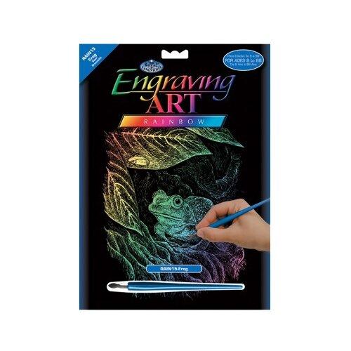 Купить Гравюра Royal & Langnickel Лягушка (RAIN15) цветная основа, Гравюры