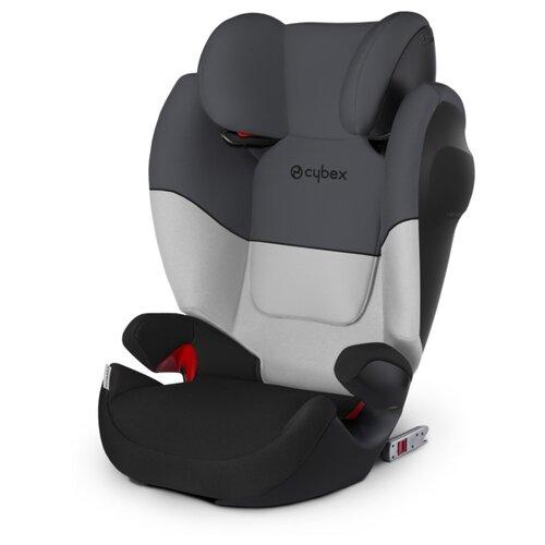Автокресло группа 2/3 (15-36 кг) Cybex Solution M-Fix SL, Gray rabbit child car safety seat cybex solution m fix sl 2 3 15 36 kg 3 up to 12 years isofix chair baby car seat kidstravel group 2 3