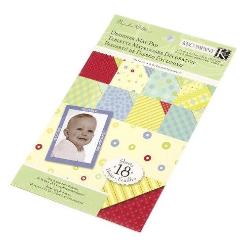 Купить Подложка K&Company 12х17 см, 24 листа, Чудо-малыш. Маленькое чудо разноцветный, Бумага и наборы