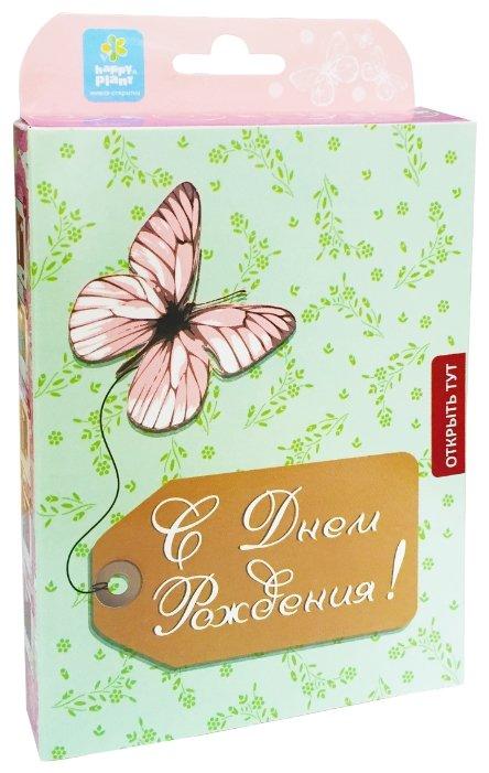 Набор для выращивания Happy Plant Живая открытка С Днём рождения! (Бабочка)